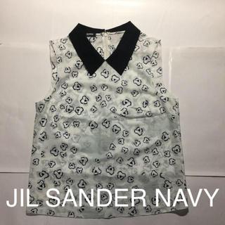 ジルサンダー(Jil Sander)のジルサンダー NAVY ノースリーブ シャツ  (シャツ/ブラウス(半袖/袖なし))