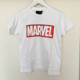 MARVEL マーベル 白色Tシャツ XSサイズ(Tシャツ/カットソー(半袖/袖なし))