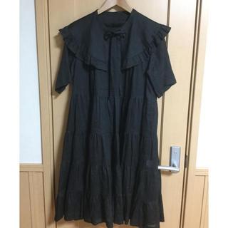 JaneMarple - ジェーンマープルJane Marple ケープカラーのティアードドレス