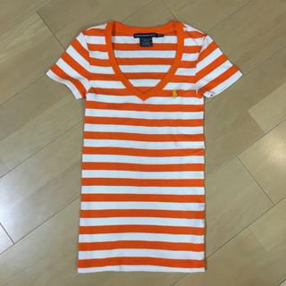 ラルフローレン(Ralph Lauren)の未使用!ラルフローレン  オレンジ Vネック  Tシャツ♡(Tシャツ(半袖/袖なし))