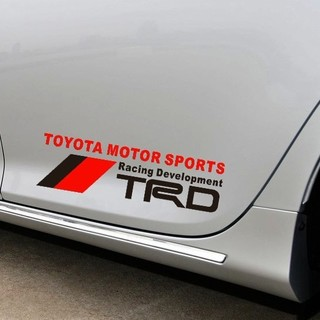 TRD TOYOTA MOTOR SPORTS ステッカー 黒&赤色