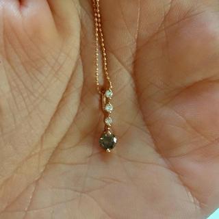 アーカー(AHKAH)の新品❤️ブラウンダイヤモンド ネックレス 18金ピンクゴールド K18(ネックレス)