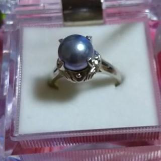 pt900黒真珠リング(リング(指輪))