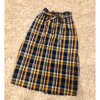 ジーユー(GU)のGU ジーユー★150cm チェックスカート(スカート)