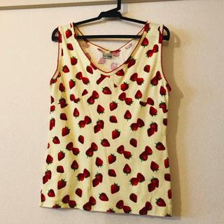 シマムラ(しまむら)のいちご柄 タンクトップ(Tシャツ(半袖/袖なし))