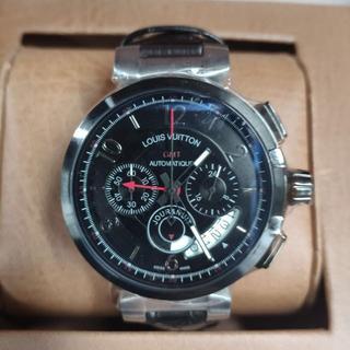 ルイヴィトン(LOUIS VUITTON)のメンズファッション 人気 新品 クォーツ 腕時計 黒(レザーベルト)