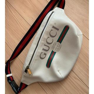 グッチ(Gucci)の GUCCI レザーベルトバッグ 美品(ボディバッグ/ウエストポーチ)