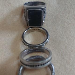 シルバーリング 四点セット オニキス SV 指輪(リング(指輪))