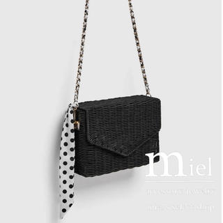 TODAYFUL - Black chain summer bag/チェーン カゴバッグ