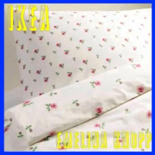イケア(IKEA)のIKEA EMELINA KNOPP 掛け布団カバー 枕カバー  (シーツ/カバー)