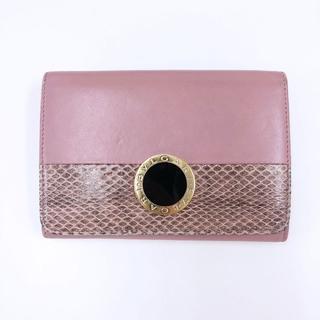 ブルガリ(BVLGARI)の正規品 ブルガリ BVLGARI 折財布 パイソン ピンク(財布)