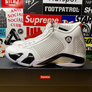 NIKE - NIKE Supreme AIR JORDAN 14 White 26.5cm
