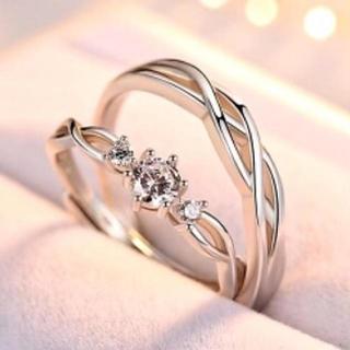 指輪 ペアリング メンズ レディース リング 2個セット 【ギフトラッピング付】(リング(指輪))