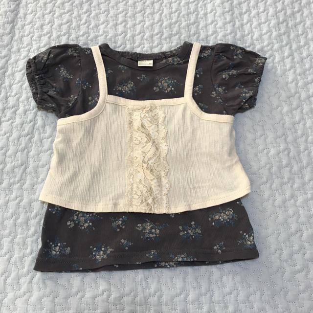 しまむら(シマムラ)のテータテート  ビスチェ付きTシャツ 90 キッズ/ベビー/マタニティのキッズ服 女の子用(90cm~)(Tシャツ/カットソー)の商品写真