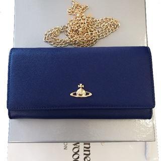ヴィヴィアンウエストウッド(Vivienne Westwood)のヴィヴィアン ウエストウッド 長財布 ショルダーバッグ 兼用 ブルー(財布)