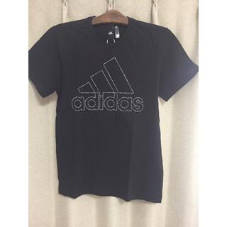 アディダス(adidas)の新品未使用 adidas 半袖 黒 2990-税(Tシャツ/カットソー(半袖/袖なし))