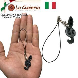 ユナイテッドアローズ(UNITED ARROWS)の新品 イタリア製 ラクオエリア La cuoieria 本革ストラップ 音符(キーホルダー)