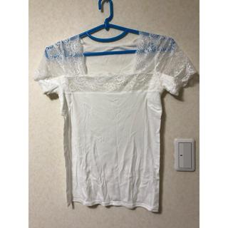 cecile - スマートドライ® 汗取りパッド付きフレンチ袖(綿100%・レースタイプ)