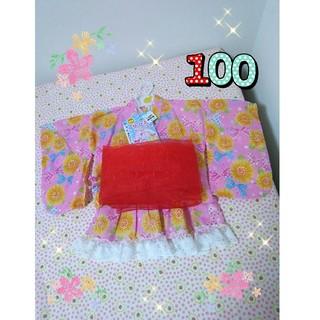 ニシマツヤ(西松屋)の新品♡浴衣ドレス 100 女の子 夏祭り 甚平(甚平/浴衣)