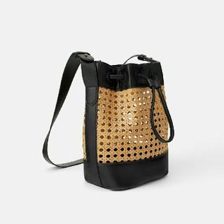 ZARA - ZARA 籐素材編み込みバケットバッグ