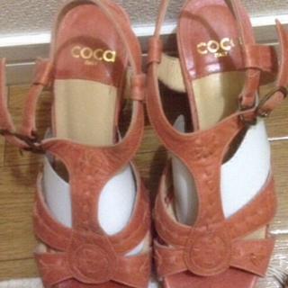 COCe  オレンジサンダル👡👡 美品(サンダル)