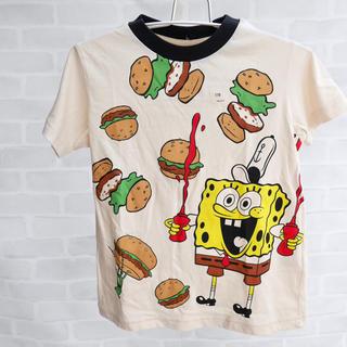 ジーユー(GU)のスポンジボブ 子どもTシャツ(Tシャツ/カットソー)