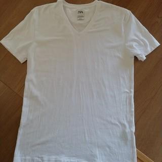 ZARA - ZARA メンズ Tシャツ 白  美品