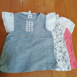 アカチャンホンポ - 赤ちゃん本舗 80 3枚 セット 女の子 カットソー 半袖