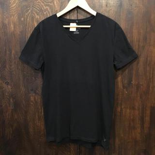 アメリカンイーグル(American Eagle)のAmerican eagle アメリカンイーグル Vネック Tシャツ 黒 S(Tシャツ/カットソー(半袖/袖なし))