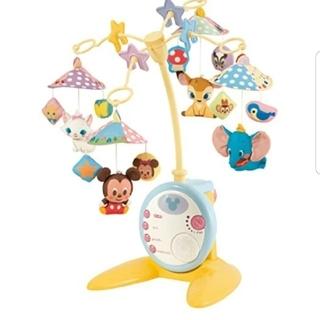 ディズニー(Disney)のディズニーメリーと新生児から使えるおもちゃ(オルゴールメリー/モービル)