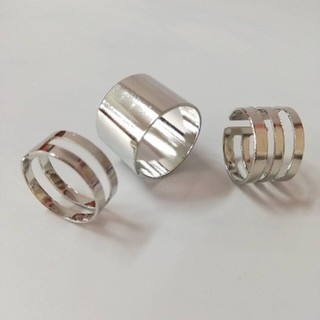 リング 3連リング フリーサイズ(リング(指輪))