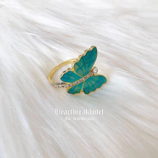 ♡ Vintage Gold Butterfly Fancy Ring(リング(指輪))