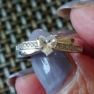 シルバー925キュービックジルコニアハートリング(リング(指輪))