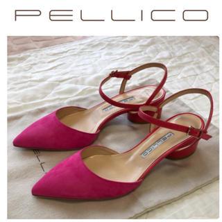 ペリーコ(PELLICO)のPELLICO ペリーコ ANDREA パンプス DROP HEEL 新品 24(ハイヒール/パンプス)