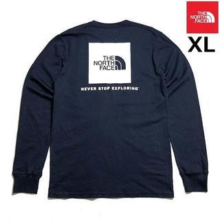 THE NORTH FACE - 売切!ノースフェイス ボックスロゴ 長袖Tシャツ(XL)紺 180902