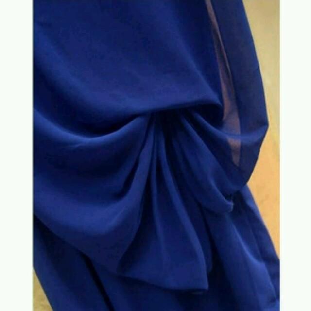 パーティーブルーワンピースドレス レディースのワンピース(ひざ丈ワンピース)の商品写真
