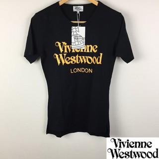 ヴィヴィアンウエストウッド(Vivienne Westwood)の新品 ヴィヴィアンウエストウッドマン 半袖Tシャツ ブラック サイズ44 タグ付(Tシャツ/カットソー(半袖/袖なし))