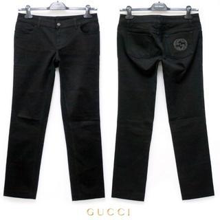 グッチ(Gucci)のGUCCI 美品 ブラック パンツ size 44(デニム/ジーンズ)