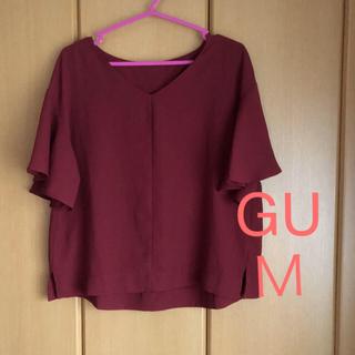 ジーユー(GU)の美品☆GU  フレアスリーブブラウス  M(シャツ/ブラウス(半袖/袖なし))