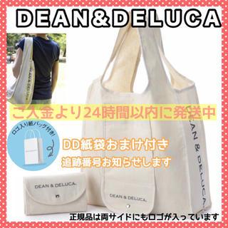 ディーンアンドデルーカ(DEAN & DELUCA)の紙袋付きDEAN&DELUCAナチュラルエコバッグショッピングバッグトートバッグ(エコバッグ)