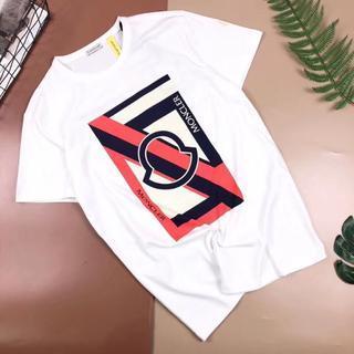 モンクレール(MONCLER)のMONCLER  LOGプリント半袖Tシャツ/白い(Tシャツ/カットソー(半袖/袖なし))