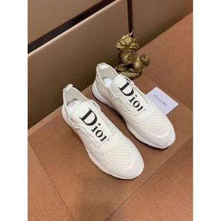 ディオール(Dior)のDIORフラットシューズ(  メンズ)/白い(スニーカー)