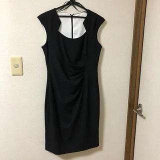 カルバンクライン(Calvin Klein)の自宅保管未使用 Calvin Klein ドレープワンピースドレス ダイアン(ミディアムドレス)