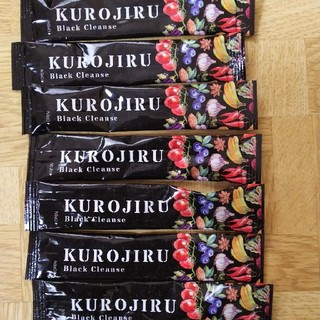 黒汁 7本セット  黒汁 KUROJIRU ブラッククレンズ