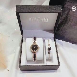 ブルガリ(BVLGARI)のBVLGAR時計プレスレットリング2点セット特価販売(腕時計)