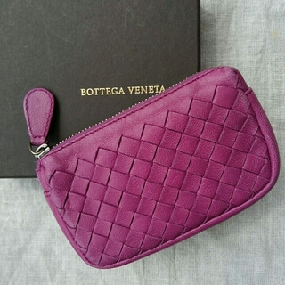 Bottega Veneta - BOTTEGA VENETA イントレチャート コインケース 紫