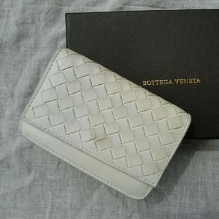 Bottega Veneta - BOTTEGA VENETA イントレチャート ナッパ 名刺入れ 白