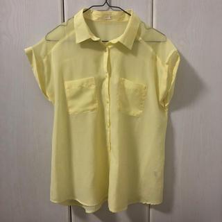 ジーユー(GU)の半袖ワイシャツ(シャツ/ブラウス(半袖/袖なし))