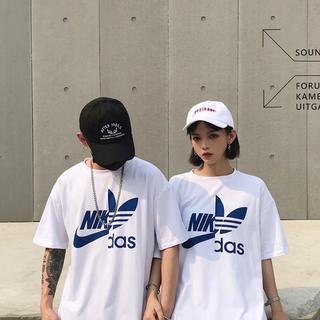 NIKE × adidas Tシャツ