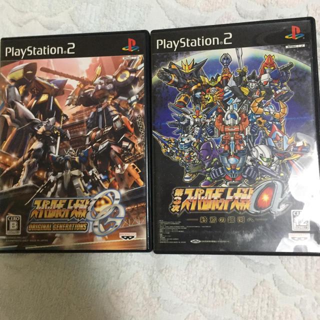 PlayStation2(プレイステーション2)のスパロボ セット エンタメ/ホビーのテレビゲーム(家庭用ゲームソフト)の商品写真